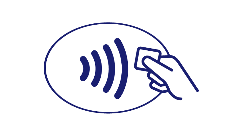 Illustration of the Contactless Symbol.
